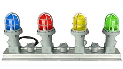 Multi-Voltage Capable LED Traffic Light for refueling stations and manufacturing facilities