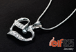 Silver necklace with CZ stone