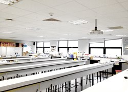 Cool-phase installed within a suspended ceiling at Bournemouth University