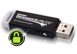 Kanguru Defender Elite200 hardware encrypted USB flash drive