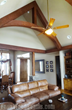 FauxWoodBeams Installed Woodland Arched King Truss.