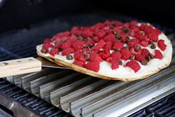 Grilled Raspberry chocolate quesadilla