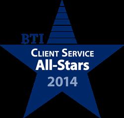 BTI Client Service All-Stars 2014 Logo
