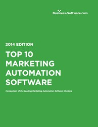 Business-Software.com Top 10 Marketing Automation Software Report cover