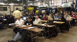 Lippert Components, Inc. (LCI®) partnered with the New England RV Dealers Association (NERVDA) to provide technician training on Dec. 10-11, 2013.