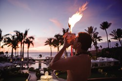 Traditional Hawaiian Torch Lighting Ceremony