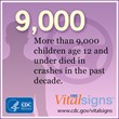 New CDC Vital Signs: Child Passenger Safety