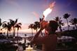 Traditional Hawaiian Torch Lighting Ceremony