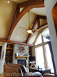 Another dramatic residential install of faux wood beams and trusses.