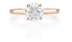 DB Classic Pink Gold Engagement Ring