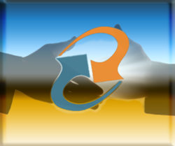 Blue Medora Logo Handshake Gradient Horizon Blue Orange