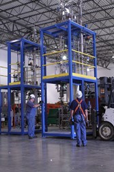 Process Skids Delivered with Dual Distillation Column Design