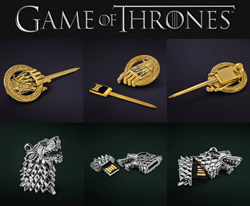 Game of Thrones Custom USB Drives (Hand of the King Pin and Stark Direwolf)