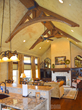 "Tuscany Arched fake wood beams ""WOW"" in this luxury-market residential install."