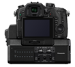 Panasonic DMC GH4 Mirrorless Digital Camera - Back - with YAGH Interface Adapter