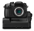 Panasonic DMC GH4 Mirrorless Digital Camera - Front - with YAGH Interface Adapter
