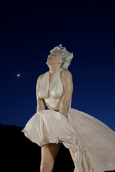 Exhibition Feature: Forever Marilyn, 25 feet in height, monumental scale sculpture by Seward Johnson ©1996, 2011 The Sculpture Foundation, Inc. photo by Carl Deal III
