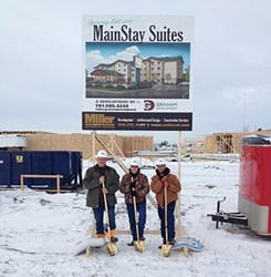 Ground Breaking MainStay Suites Hotel