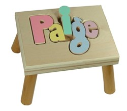 Storkgifts announces release of personalized name puzzle stools storkgifts new name puzzle stool negle Image collections