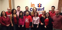 InCrowder's wearing red in honor of National Wear Red Day to raise awareness of heart disease in women