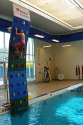 Kersplash Pool Climbing Wall at Bloomfield Aquatic Center