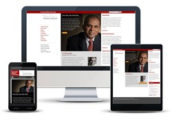 responsive web design university magazine