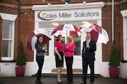 Coles Miller solicitors left to right: Agnieszka Bania, Kerry Houston-Kypta, Charlie Cormack, Ian Campbell