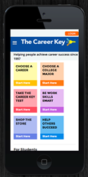 Career Key mobile friendly website.