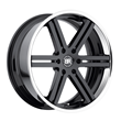 Truck Wheels by Black Rhino - The Letaba in Gloss Black with Chrome Stainless Lip