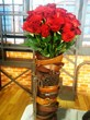 Leather Belt Valentine Vase Idea from Thrift Town