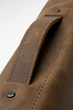 Rough Rider Leather Messenger—top grab handle