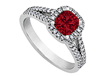 created ruby engagement ring