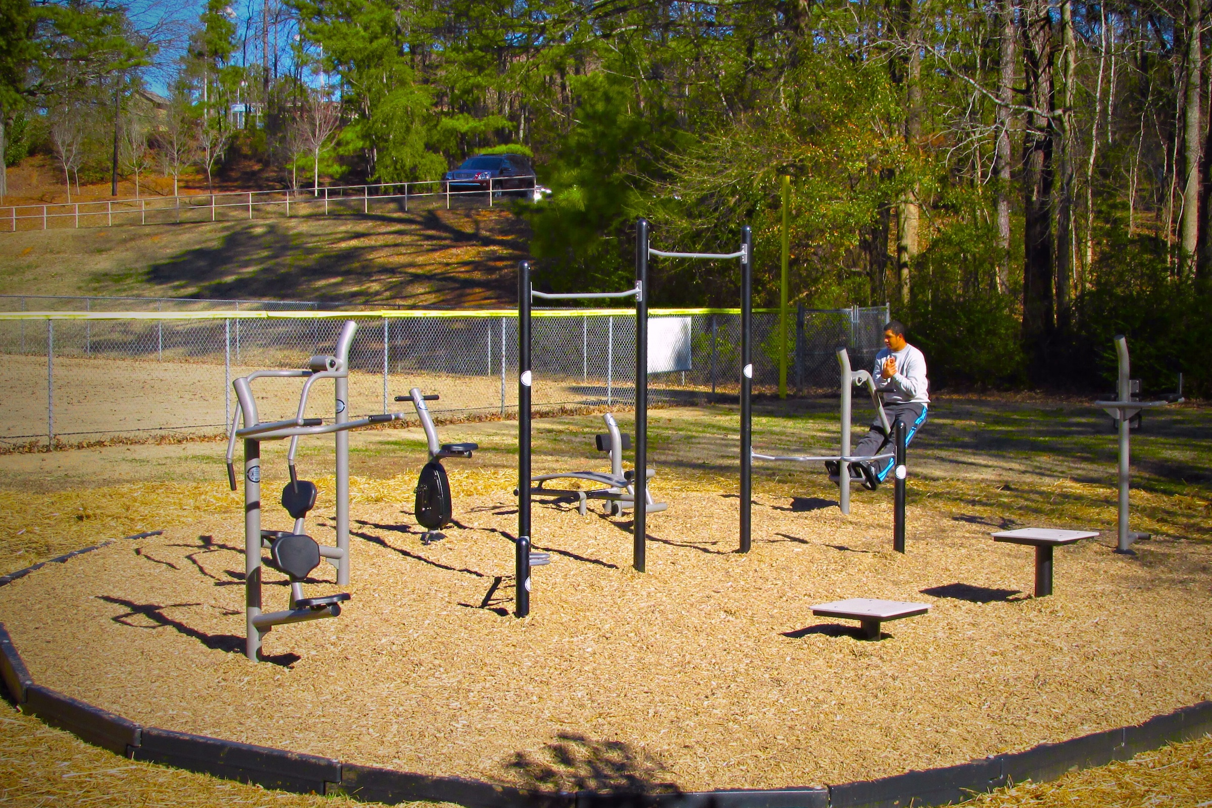 gametime fitness park in roswell georgia recognized as a national demonstration site for. Black Bedroom Furniture Sets. Home Design Ideas