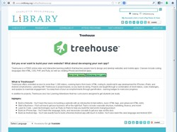 cmlibrary.org screen shot treehouse