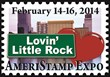 "Join America's Stamp Club at our stamp show! We are ""Lovin' Little Rock!"""