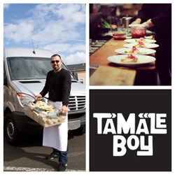 Owner of Tamale Boy, Jaime Soltero Jr., and his famous tamales, Portland, Oregon
