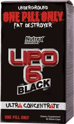 Nutrex Lipo 6 Black Ultra Concentrate  is the world's first one-pill-only fat destroyer that combines receptor cleansing and reprogramming agents with an ultra concentrated fat destroying complex