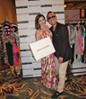 Jen Lilley with Modern Emotions Clothing Owner Jin Shin at the Official Backstage Movieguide® Awards Gifting Suite Experience