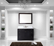 Virtu USA 48 Elise Single Square Sink Bathroom Vanity in Espresso with Italian Carrara Marble Top ES-32048-WMSQ-ES