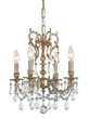 Crystorama 5524-AG-CL-S - ornate casted clear strass mini chandelier