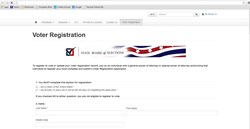 SOE offers online Voter Registration to all eligible voters.