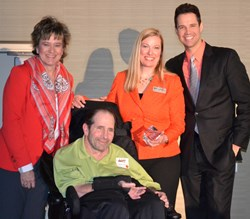 Safia Keller, Jay Gurmankin, Annette Royle-Mitchell and David Osmond at the Utah-Southern Idaho Chapter of the National MS Society's Awards Ceremony