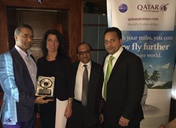 Sam Jain, Sanjay Hathiramani, CheapOair, Qatar Airways, Lisa Markovic, Arun Vyas, New York, Al Bustan
