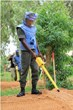 A Malian security forces worker during practical training in the use of a Schonstedt locator.