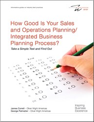 Integrated Business Planning, S&OP, sales and operations planning, Class A