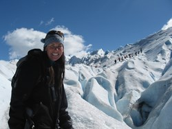 Trekking a glacier on an Argentina Tour