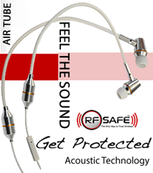 RF Safe Stereo Acoustic Air Tube Headset Technology