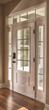 Therma-Tru Smooth Star door with Grids Between Glass in bronze.