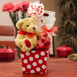 Hugs & Kisses Valentine's Gourmet Gift Basket