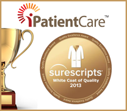 iPatientCare EHR Earns Surescripts' 2013 White Coat of Quality Award